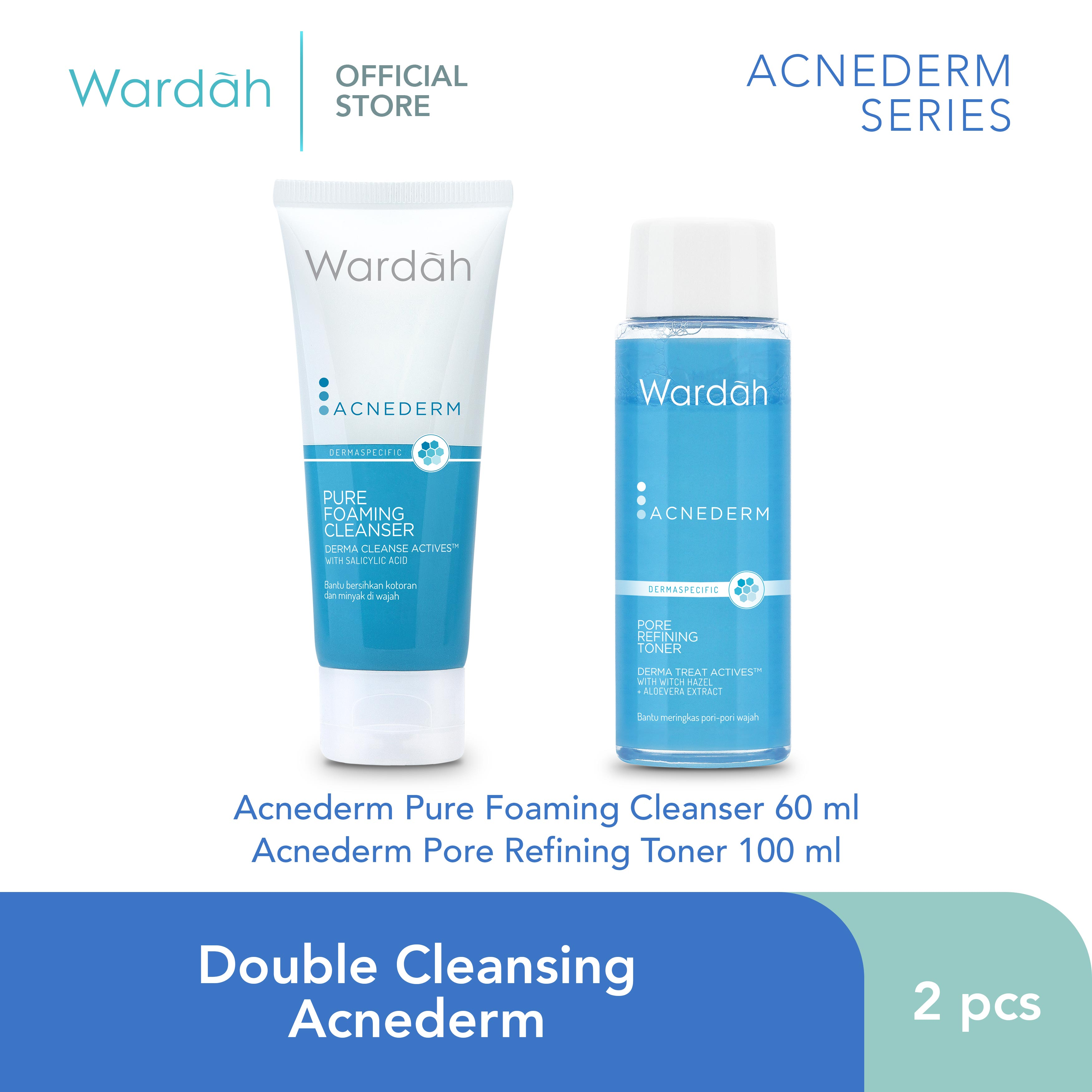 Double Cleansing Acnederm