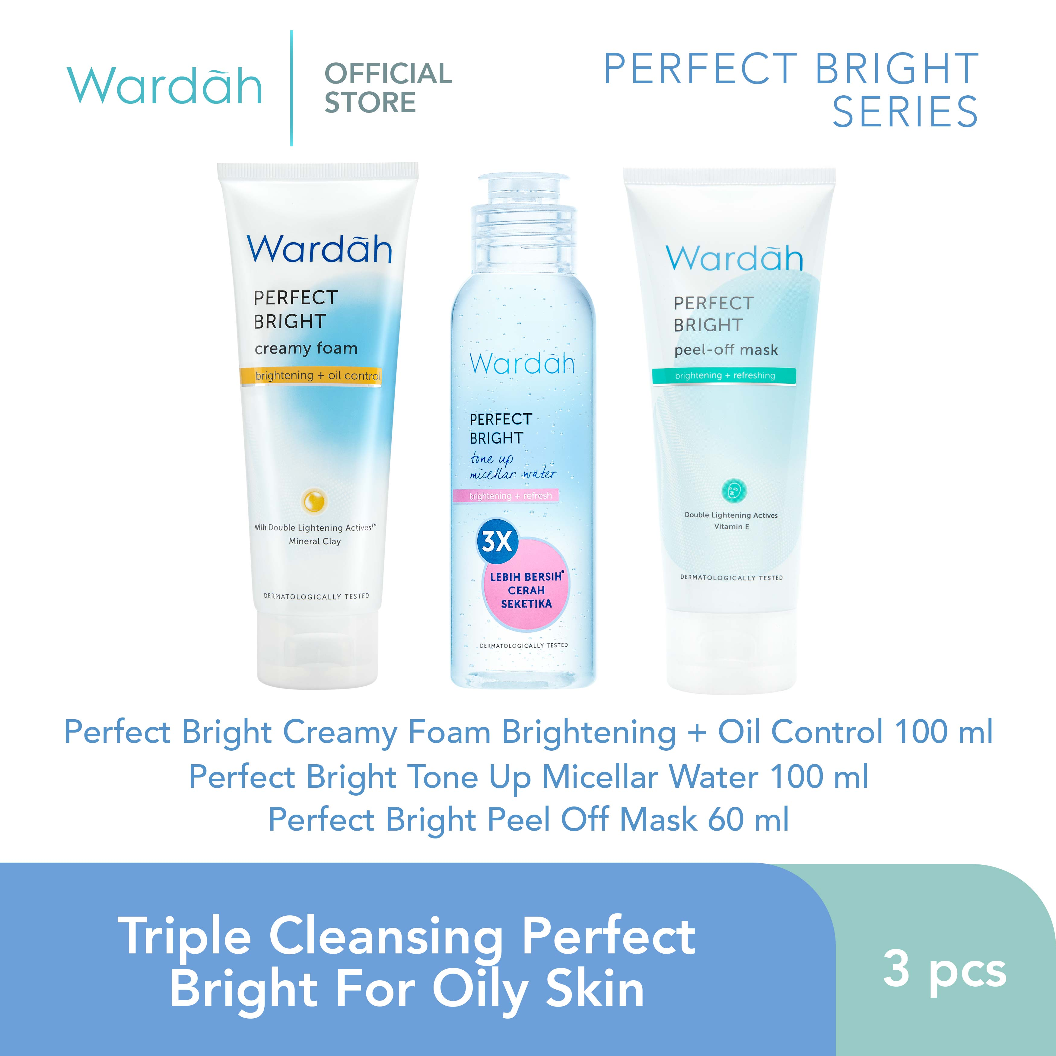 Triple Cleansing Perfect Bright For Oily Skin
