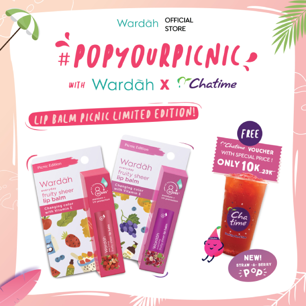 Pop Your Picnic Wardah Lip Balm x Cha Time Summer Package
