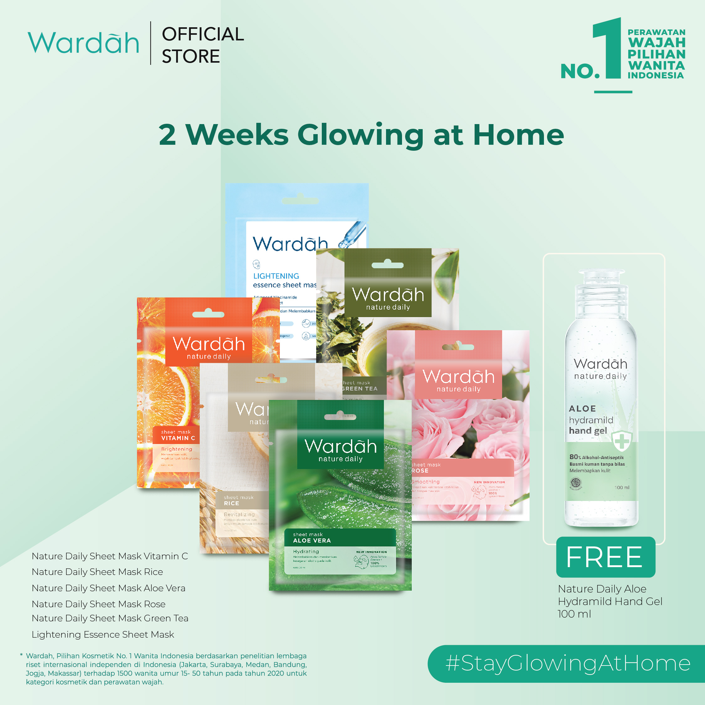 2 weeks Isoman Gift #StayGlowingatHome Package